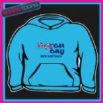 EMBROIDERED BYRON BAY NSW AUSTRALIA DESIGN THICK QUALITY ADULTS  HOODIE